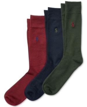 Polo Ralph Lauren Men S 3 Pack Super-Soft Dress Socks In Hunter Wine ... 91047e1f17dc