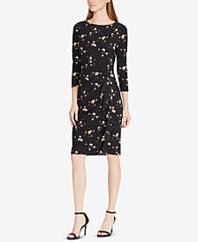 Lauren Ralph Lauren Petite Ruffled Jersey Dress