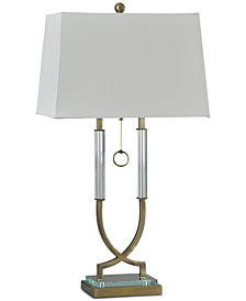 StyleCraft Clear Ring Table Lamp