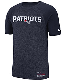 Nike Men's New England Patriots Marled Raglan T-Shirt