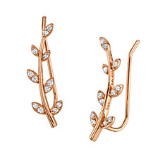 Rose Gold Leaf Ear Crawler