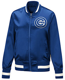 Touch by Alyssa Milano Women's Chicago Cubs Touch Satin Bomber Jacket