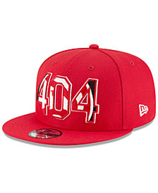 New Era Atlanta Hawks Area Code 9FIFTY Snapback Cap