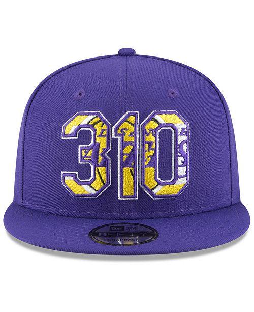 Christmas Tree Lane Los Angeles: New Era Los Angeles Lakers Area Code 9FIFTY Snapback Cap