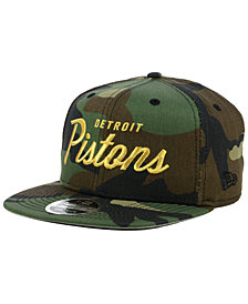 New Era Detroit Pistons Classic Script 9FIFTY Snapback Cap