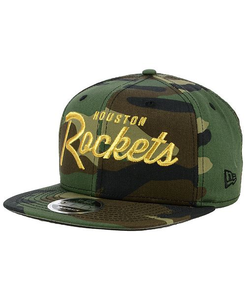 ad692fd9591 New Era Houston Rockets Classic Script 9FIFTY Snapback Cap - Sports ...