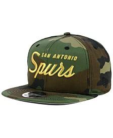 New Era San Antonio Spurs Classic Script 9FIFTY Snapback Cap
