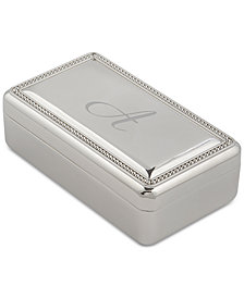 Cathy's Concepts Personalized Beaded Silver Jewelry Box