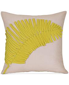 """Palm Appliqué 20"""" Square Decorative Pillow"""