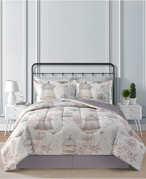 Fairfield Square Collection Birdcage Reversible 8-Pc. Comforter Sets