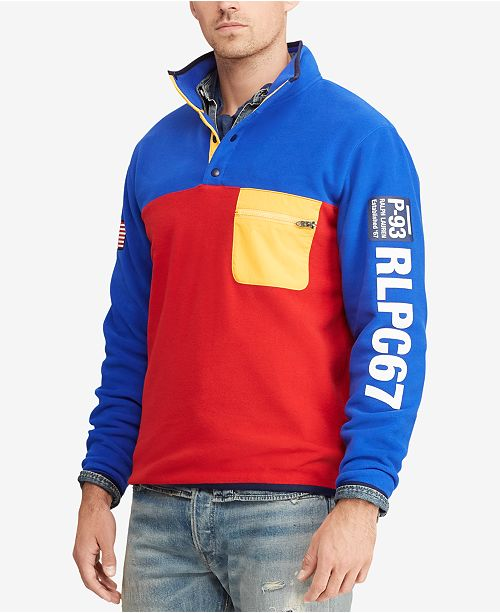 f2bccb1aaea502 Polo Ralph Lauren Men's Hi Tech Color-Blocked Pullover & Reviews ...