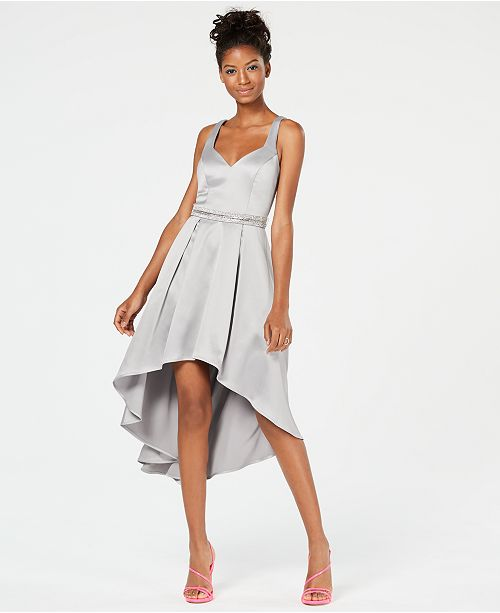 detailed look search for latest latest fashion Sequin Hearts Silver-Tone Hi-Lo Dress & Reviews - Dresses ...