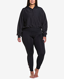 Soffe Curves Plus Size Cropped Hooded Jacket