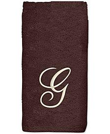 Avanti Initial Script Embroidered Bath Towel