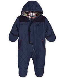 S. Rothschild Baby Boys Hooded Quilted Footed Pram