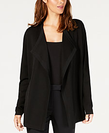 Anne Klein Draped Long-Sleeve Cardigan