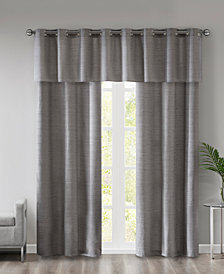 510 Design Pike Grasscloth Room Darkening Grommet 3-Pc Window Curtain Sets