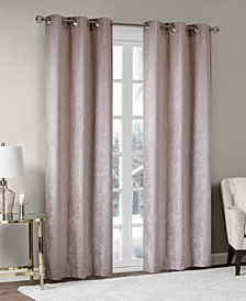 "Madison Park Luxe 42"" x 108"" Chenille Grommets Window Curtain Pair"