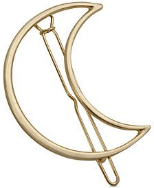 GUESS Gold-Tone Moon Hair Barrette