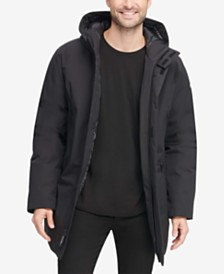 DKNY Men's Full-Length Hooded Parka, Created for Macy's