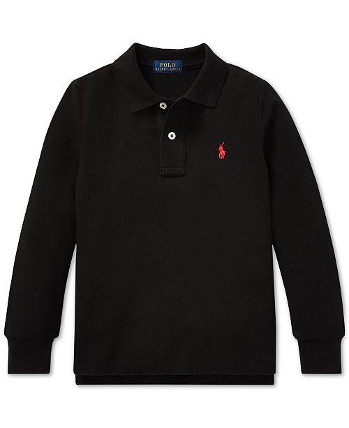 27c60f99c Polo Ralph Lauren Toddler Boys Cotton Long-Sleeve Polo Shirt ...