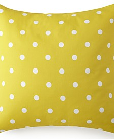 Blue Falls Euro Sham - Yellow Polka Dot