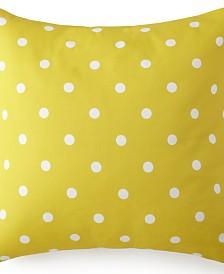 Blue Falls Euro Sham - Yellow Polka Dot