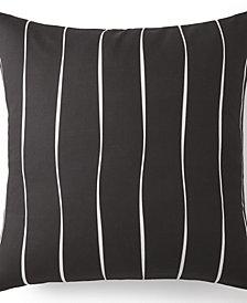 Scrollwork Euro Sham - Black & White Stripe
