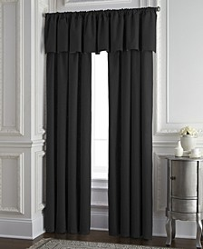 Cambric Black Tailored Valance