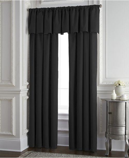 Colcha Linens Cambric Black Tailored Valance