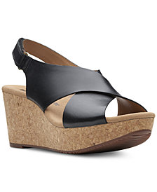 Clarks Collections Women's Annadel Eirwyn Wedge Sandals