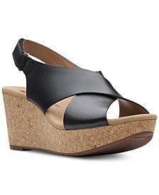Clarks Collections Women's Annadel Eirwyn Wedge Sandals