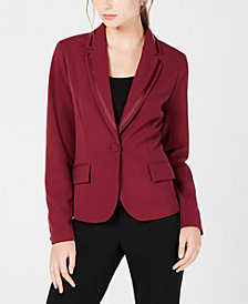 XOXO Juniors' Grosgrain-Trimmed Blazer