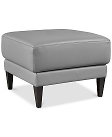 Tosella Leather Ottoman, Created for Macy's