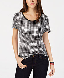 Tommy Hilfiger Houndstooth T-Shirt, Created for Macy's