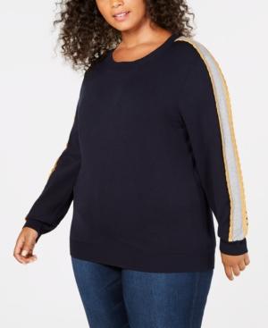 Image of 525 America Plus Size Scallop Stripe Sweater