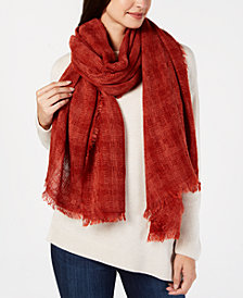Cejon Basketweave Gauzy Travel Scarf & Wrap