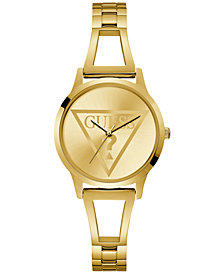 GUESS Women's Gold-Tone Stainless Steel Bracelet Watch 34mm