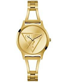 GUESS Women's Gold-Tone Stainless Steel Bracelet Watch 34mm