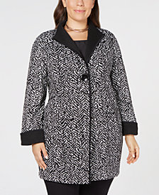 JM Collection Printed One-Button Jacket, Created for Macy's