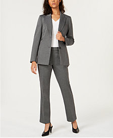 Bar III One-Button Blazer, V-Neck Top & Trousers, Created for Macy's