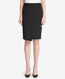 DKNY Asymmetrical Crossover Skirt, Created for Macy's