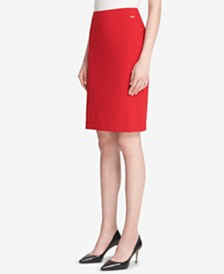 DKNY Back-Slit Pencil Skirt
