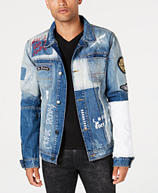 Punk Royal Men's Patch Denim Jacket
