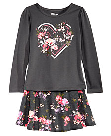 Epic Threads Little Girls Floral-Print T-shirt & Scooter Skirt, Created for Macy's