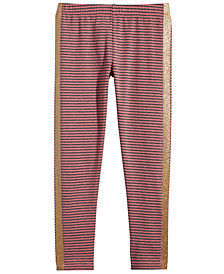 Epic Threads Toddler Girls Striped Glitter Leggings, Created for Macy's