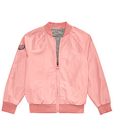 Epic Threads Little Girls Reversible Baseball Jacket, Created for Macy's