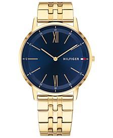 Men's Gold-Tone Bracelet Watch 40mm