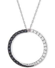 "Wrapped in Love™ Diamond Circle 18"" Pendant Necklace (1/2 ct. t.w.) in 14k White Gold, Created for Macy's"