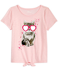 Epic Threads Big Girls Tie-Front T-Shirt, Created for Macy's
